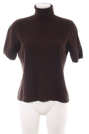 Gardeur Turtleneck Shirt brown casual look