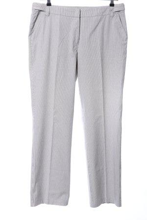 Gardeur Stoffhose weiß-schwarz Streifenmuster Business-Look