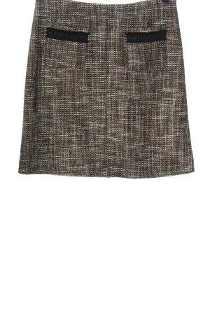 Gardeur Tweed rok bruin gestippeld casual uitstraling