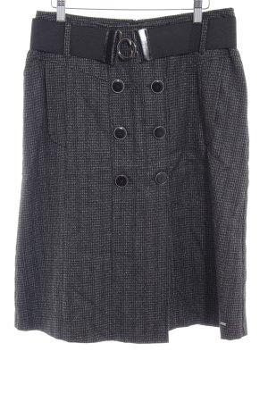 Gardeur Wollrock schwarz-grau klassischer Stil