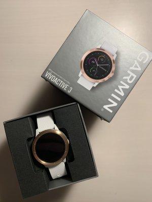 Garmin Reloj digital blanco-color oro