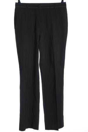Garry Weber Pantalone da abito nero-bianco motivo a righe stile professionale