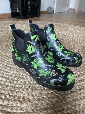 Botas de agua negro-verde