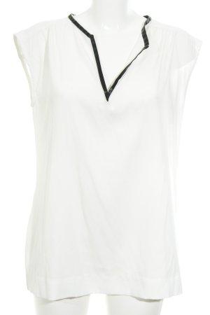 Gas ärmellose Bluse weiß-schwarz Elegant