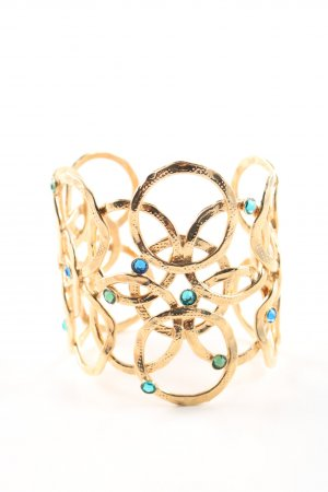 Gas Armlet gold-colored-blue casual look