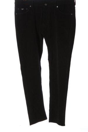 Gas Pantalone di velluto a coste nero stile casual