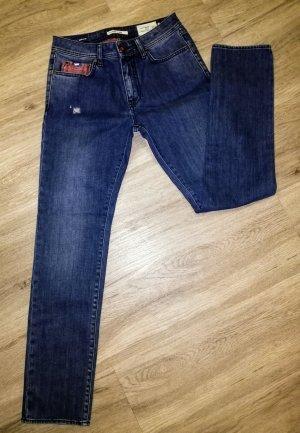 Gas Slim Jeans dark blue-steel blue mixture fibre