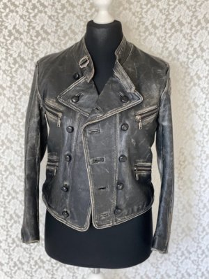 Gas Leather Jacket multicolored
