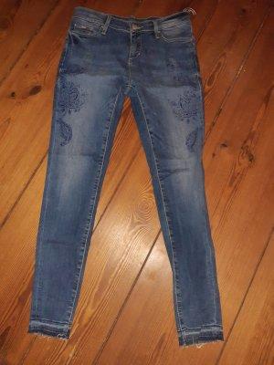 Gas Drainpipe Trousers blue cotton