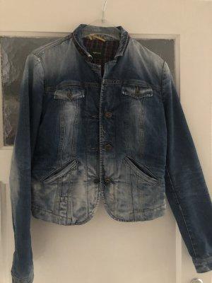 Gas Veste en jean bleu azur