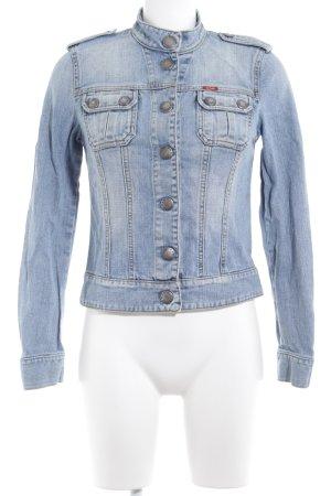 Gas Jeansjacke mehrfarbig Washed-Optik