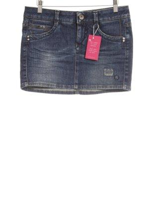 Gas Jupe en jeans bleu foncé Aspect de jeans