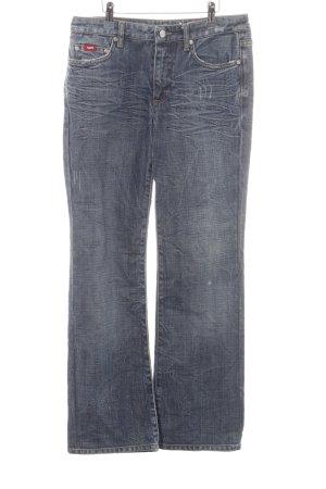 Gas Jeansschlaghose blau Casual-Look