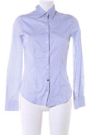 Gas Chemise à manches longues bleu-blanc motif rayé style d'affaires