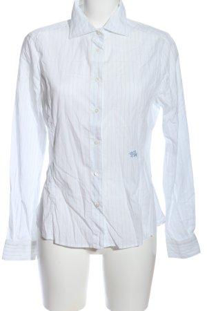 Gas Chemise à manches longues blanc motif rayé style d'affaires