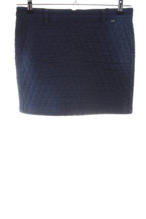 Gas Mini-jupe bleu motif de courtepointe style décontracté