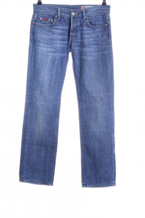 Gas Straight-Leg Jeans blau Casual-Look