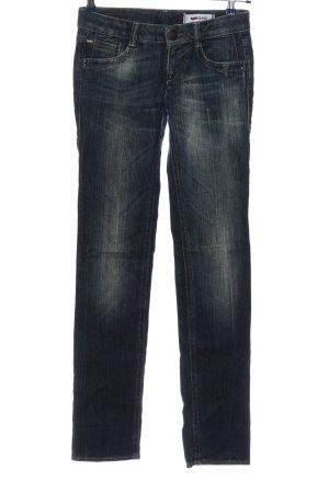 Gas Jeans coupe-droite bleu style décontracté