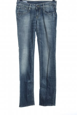 Gas Straight-Leg Jeans blau Casual-Look
