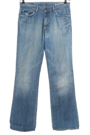 Gas Jeansy z prostymi nogawkami niebieski W stylu casual