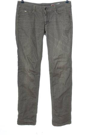 Gas Straight-Leg Jeans hellgrau Casual-Look