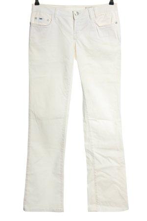Gas Jeansy z prostymi nogawkami biały W stylu casual