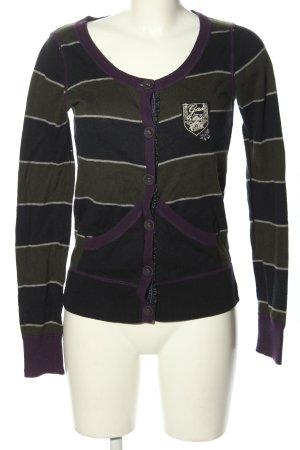 Gas Veste en tricot motif rayé style décontracté