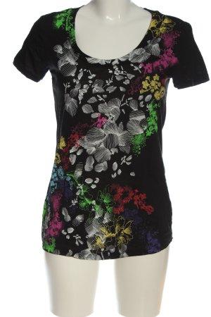 Gas T-shirt motif de fleur style décontracté