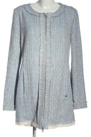 Gas Manteau mi-saison bleu-blanc cassé moucheté élégant