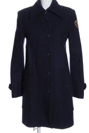 Gas Cappotto in lana blu stile casual