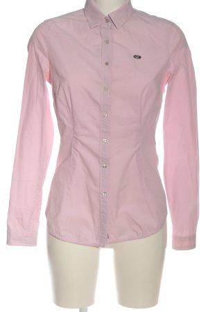 Gastra Langarmhemd weiß-pink abstraktes Muster Casual-Look