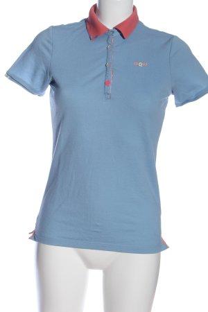 Gastra Polo-Shirt blau Casual-Look