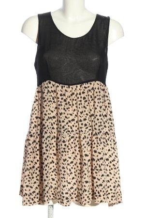 Gat Rimon Minikleid schwarz-creme abstraktes Muster Elegant