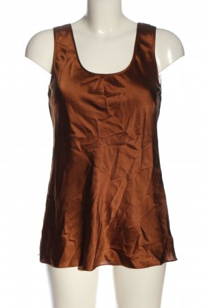 Gattina Silk Blouse bronze-colored casual look