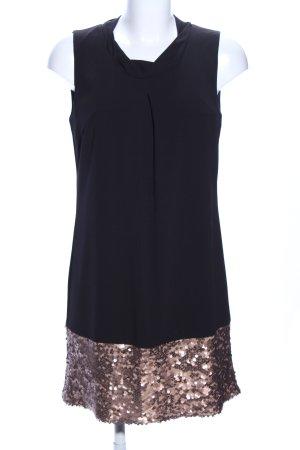 Gaudi A-Linien Kleid schwarz-goldfarben Elegant