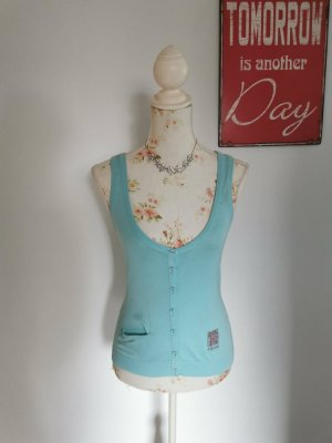 Gaudi Knitted Vest turquoise modal fibre