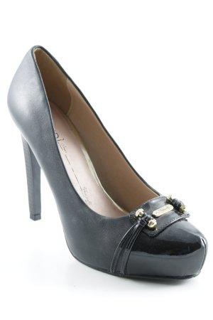 Gaudi High Heels schwarz-goldfarben Elegant