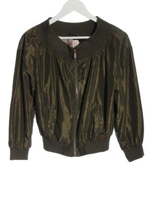 Gaudi Jeans Bomberka khaki W stylu casual