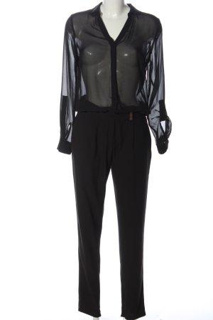 Gaudi Langer Jumpsuit schwarz Business-Look