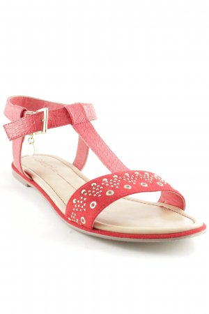 Gaudi Riemchen-Sandalen rot-goldfarben Casual-Look