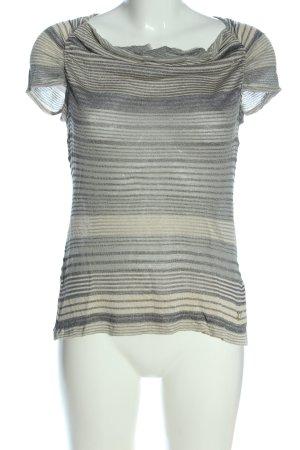 Gaudi Camicia maglia grigio chiaro-bianco sporco stampa integrale stile casual