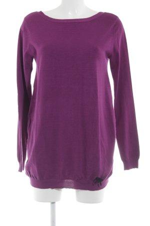 Gaudi Strickshirt purpur-schwarz Casual-Look