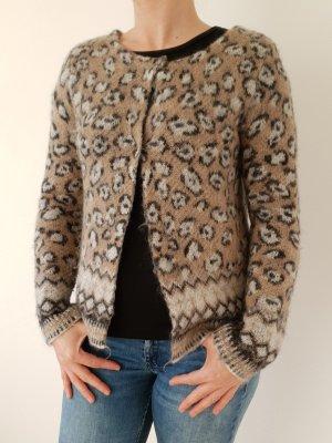 GAUDI - Strickweste mehrfarbig Leopardenlook Gr. S