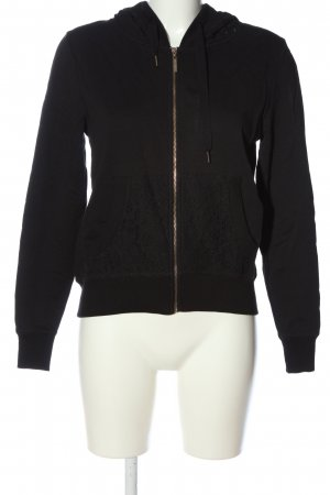 Gaudi Sweat Jacket black-gold-colored printed lettering casual look