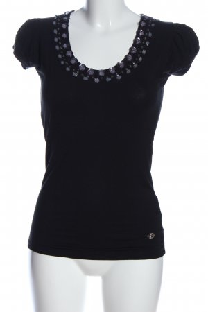 Gaudi T-Shirt schwarz Motivdruck Casual-Look