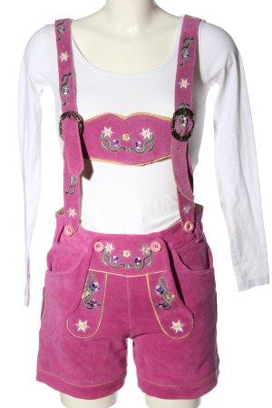 Gaudi Pantalón folclórico rosa estilo extravagante