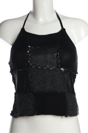 Gazebo Top lavorato a maglia nero stile casual