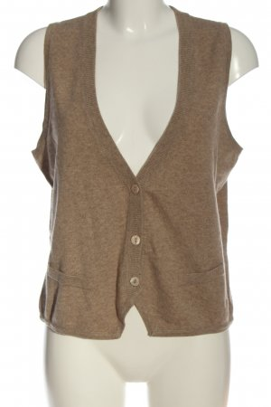 GC Fontana Knitted Vest brown flecked casual look