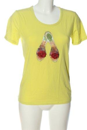GC Fontana U-Boot-Shirt blassgelb Motivdruck Casual-Look