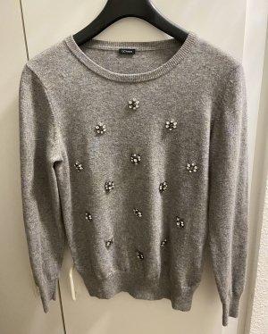 GC Fontana Wollen trui lichtgrijs-grijs